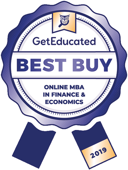 GetEducated Best Buy Online MBA in Finance and Economics 2019