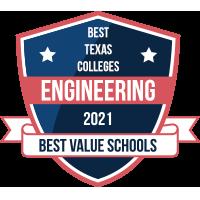# 1 Escuela de Ingeniería con la mejor relación calidad-precio en Texas Badge