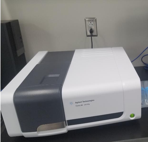 El espectrofotómetro Agilent Cary 60 UV-Vis