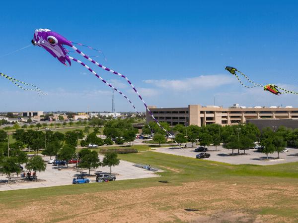 Cometas volando sobre el campus