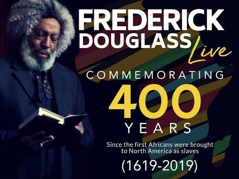 Folleto de Frederick Douglass Live
