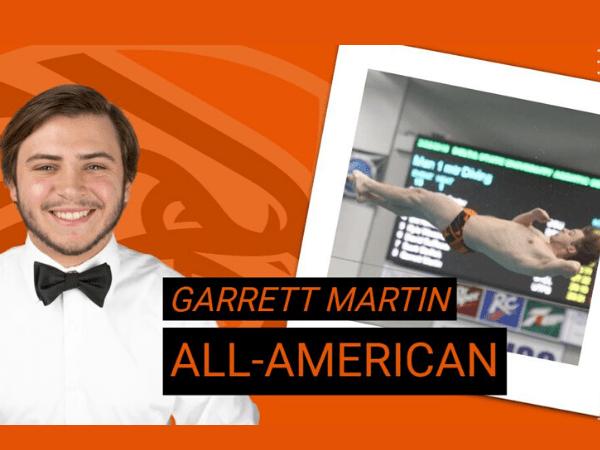Disparo a la cabeza de Garrett Martin, nadador de UTPB