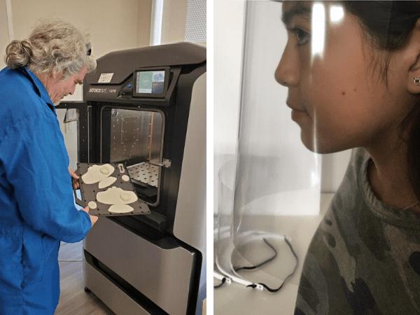 Profesor de UTPB muestra impresión en 3-D para máscaras