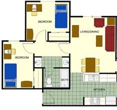 plano de dos habitaciones