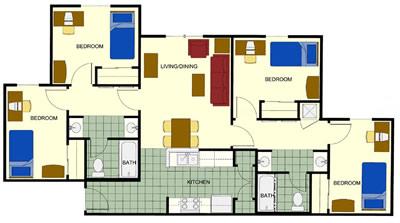 diseño de apartamentos de fase 1-4