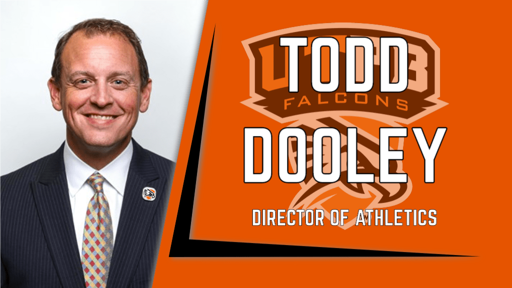 New athletic director with athletic logo
