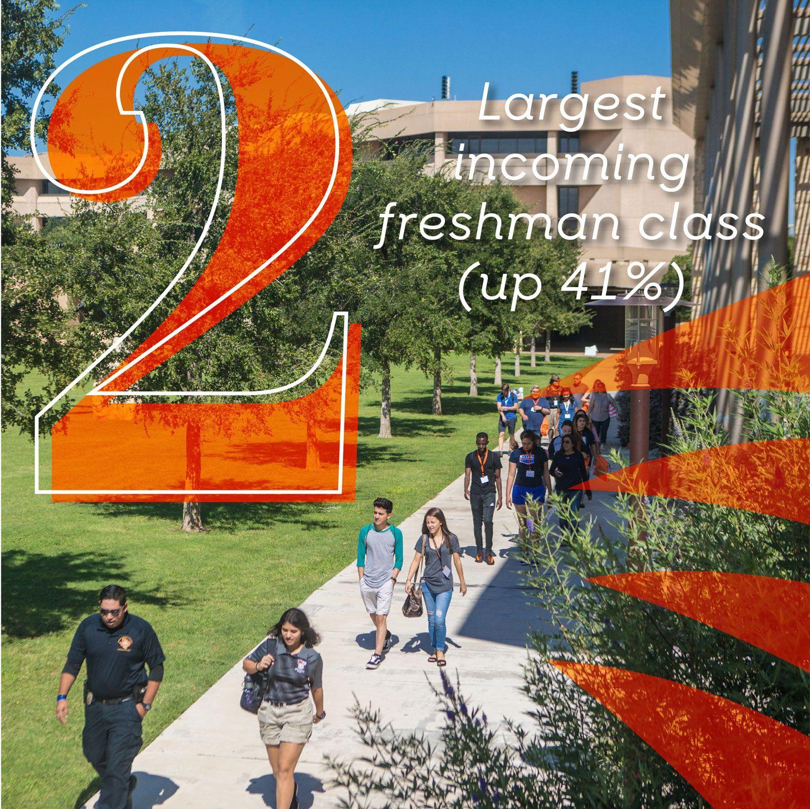 Estudiantes haciendo un recorrido por el campus