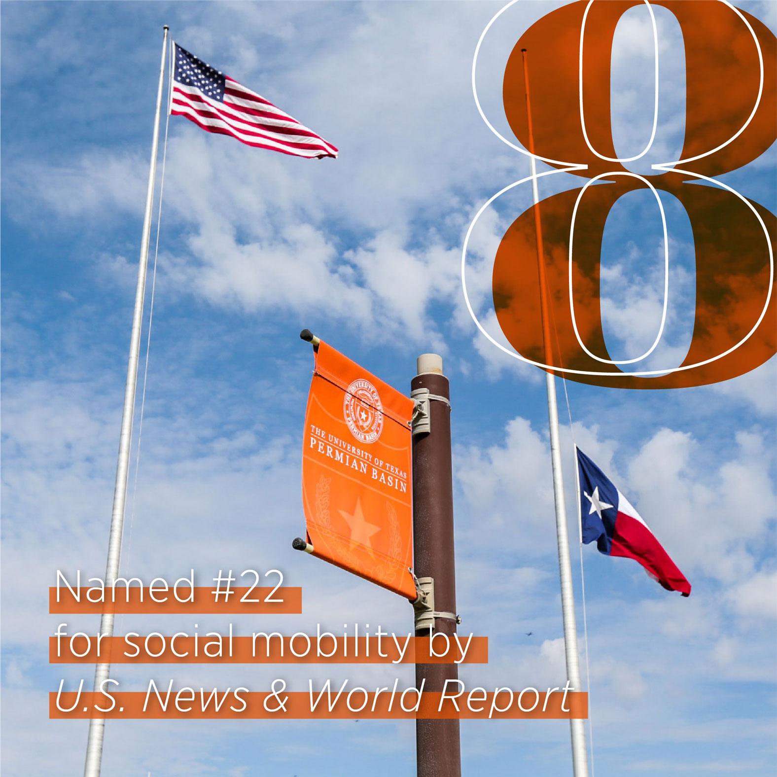 Postes de bandera en el campus